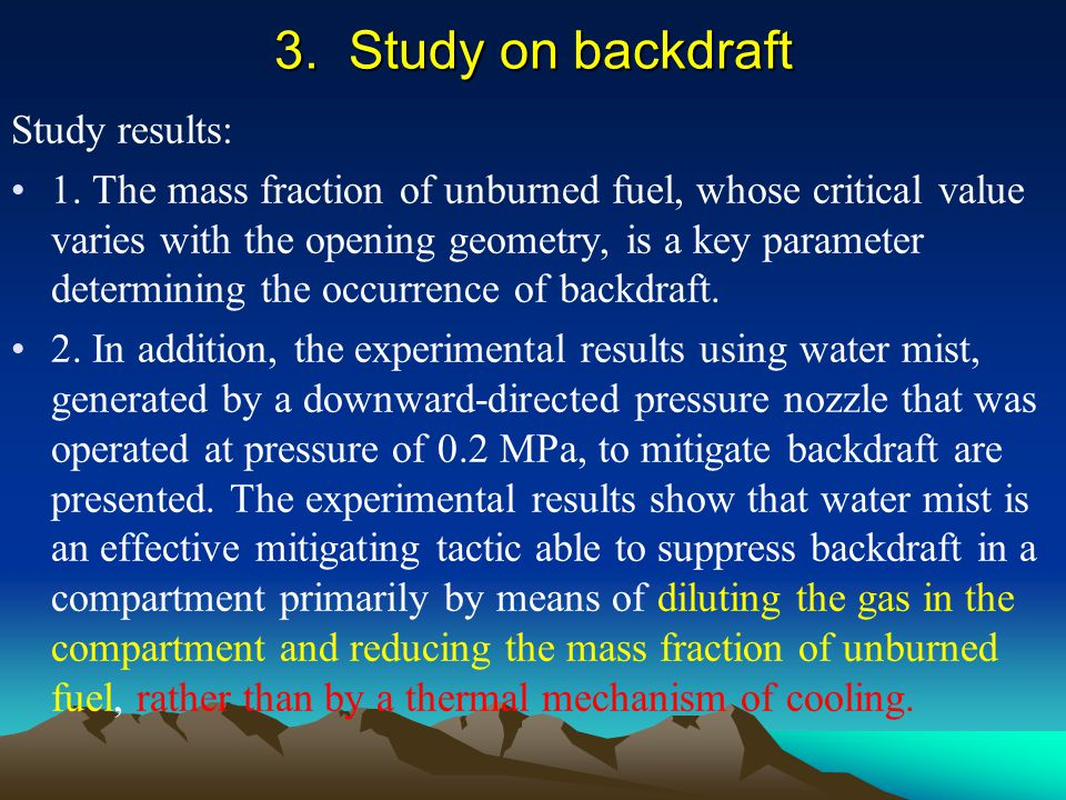 Study results: 1. The mass fraction of unburned fuel, whose critical value varies with the opening geometry, is a key parameter determining the occurr