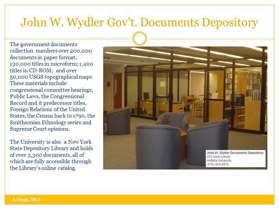 John W. Wydler Govt.