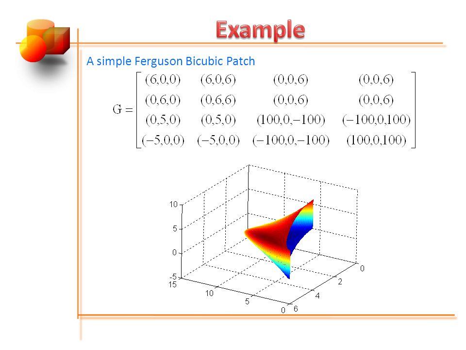 A simple Ferguson Bicubic Patch