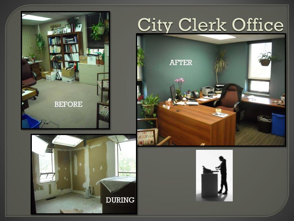 City Clerk Office BEF ORE AF TE R BEFORE DURING AFTER