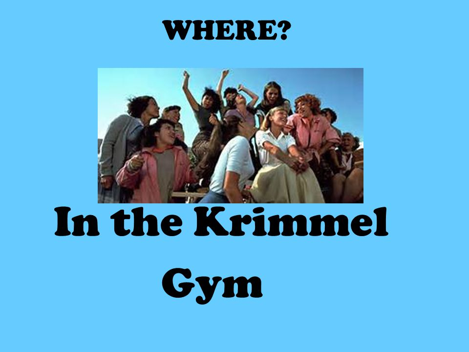 WHERE In the Krimmel Gym