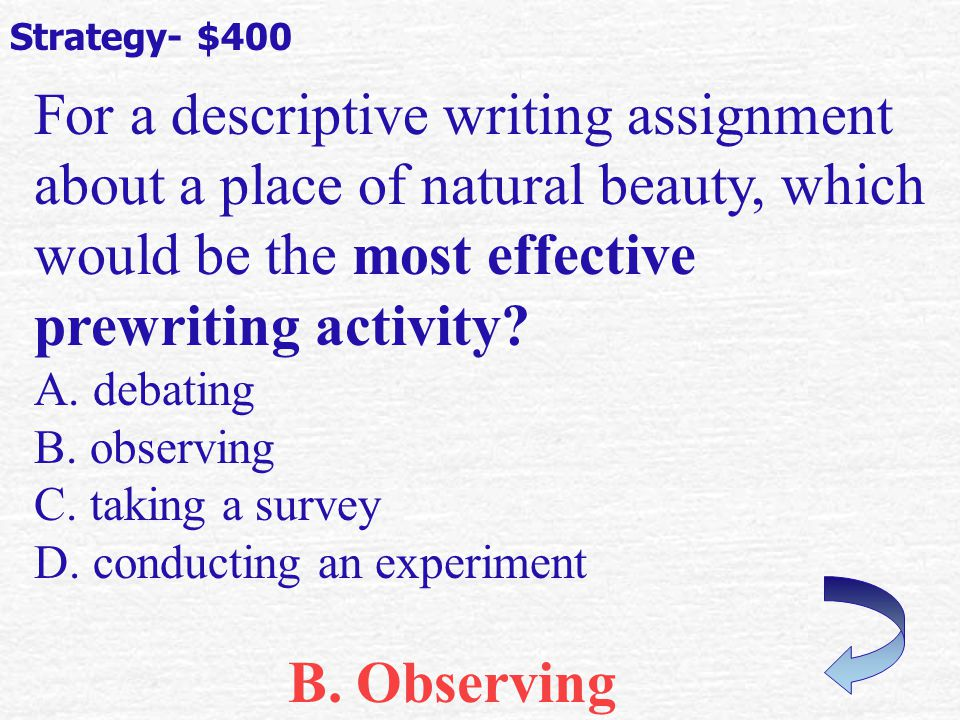 Which of the following describes an authors intentional use of short, simple sentences.