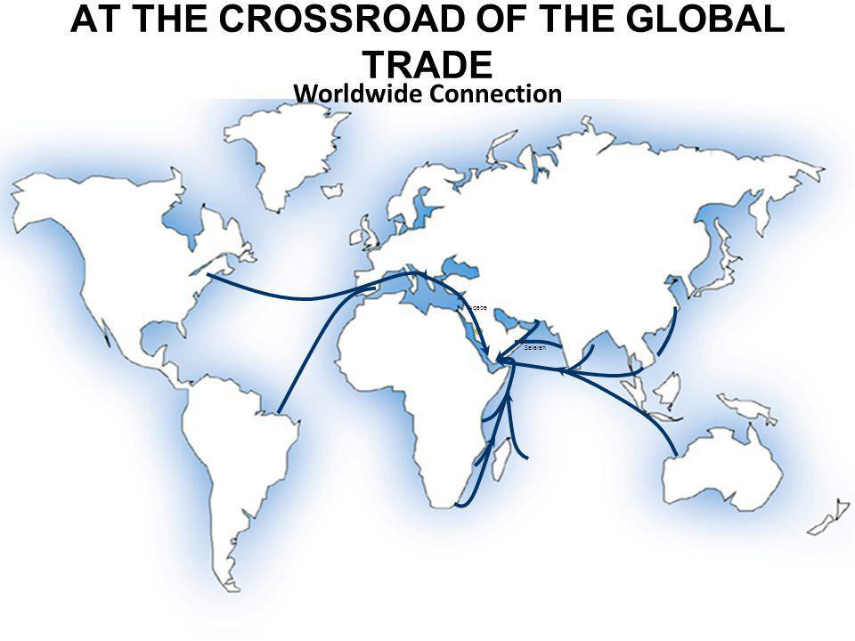 AT THE CROSSROAD OF THE GLOBAL TRADE Worldwide Connection Salalah Aqaba