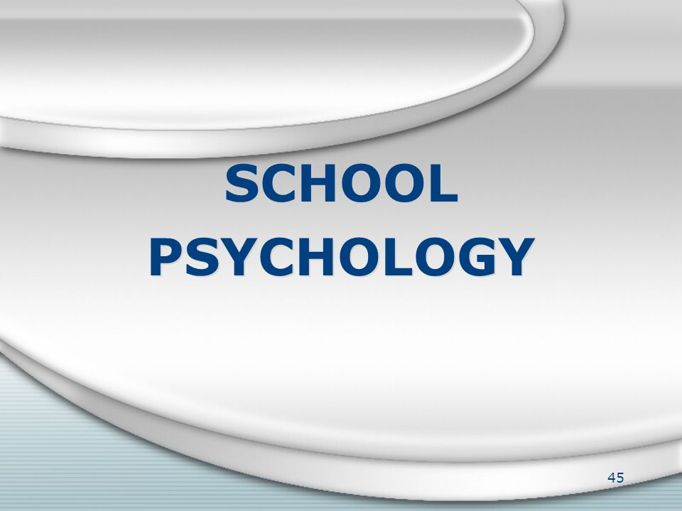 School-Based Counseling provides support to our students in areas such as: 44 Friendship/Social Skill Enhancing Self-Esteem Changing Families (Loss/Di