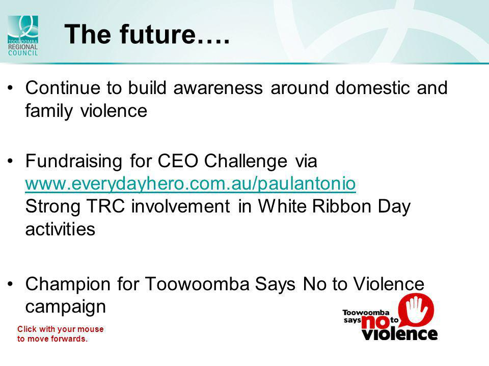 Media Coverage Continue to build awareness around domestic and family violence Fundraising for CEO Challenge via www.everydayhero.com.au/paulantonio S