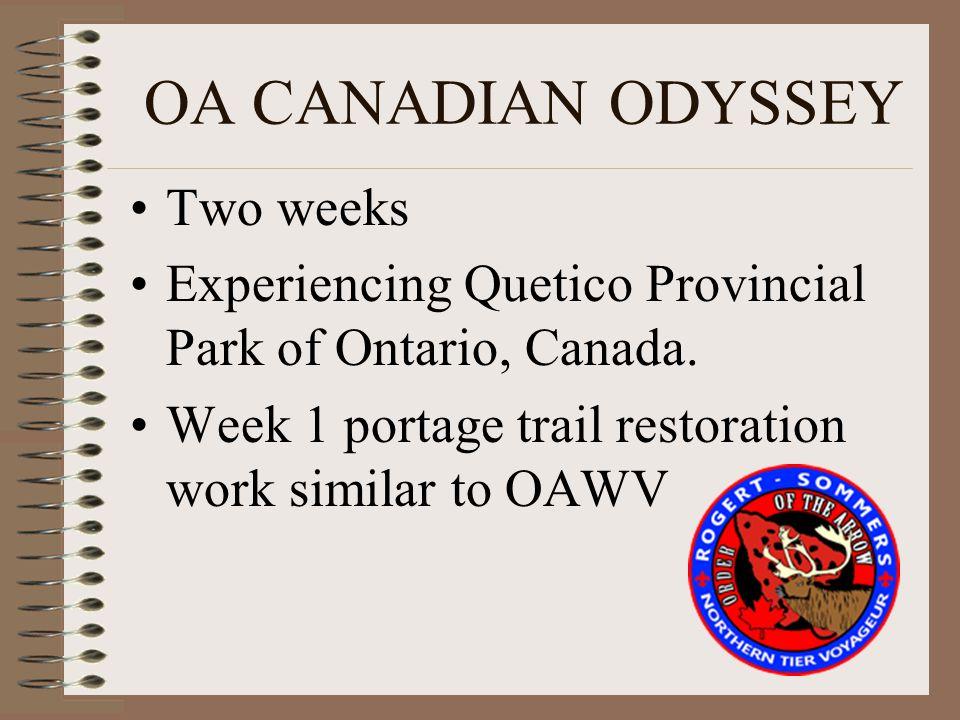 OA CANADIAN ODYSSEY Two weeks Experiencing Quetico Provincial Park of Ontario, Canada.