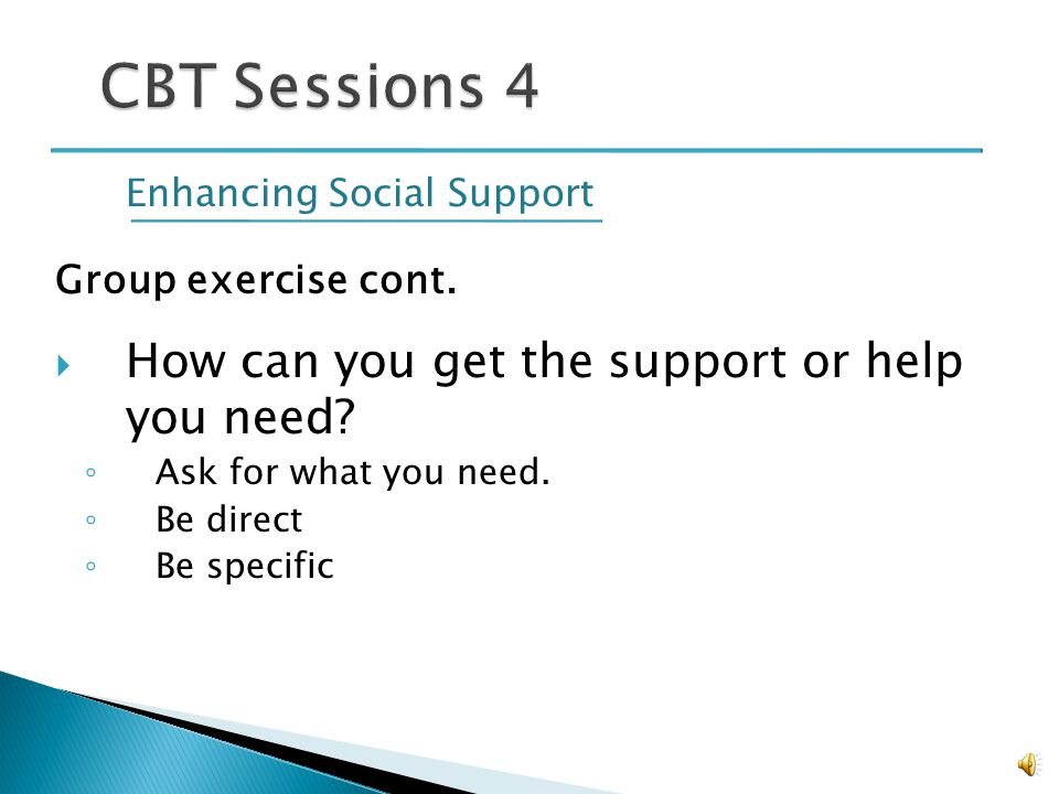 Enhancing Social Support Group exercise: Who has given you support in the past.