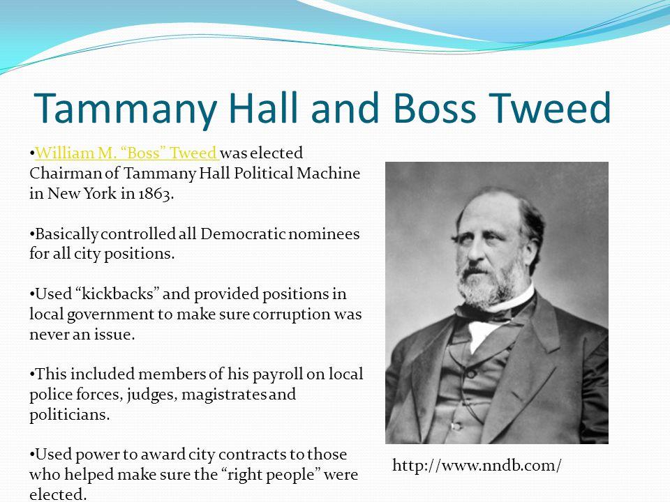Tammany Hall and Boss Tweed William M.