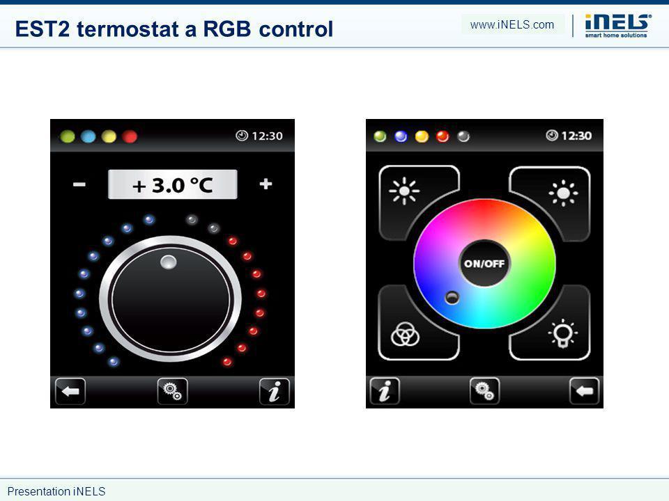 EST2 termostat a RGB control www.iNELS.com Presentation iNELS