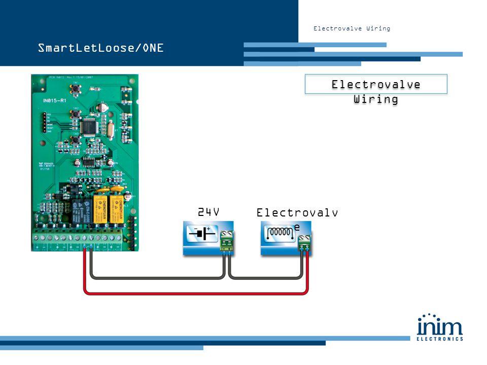 Electrovalve Wiring Electrovalv e 24V SmartLetLoose/ONE
