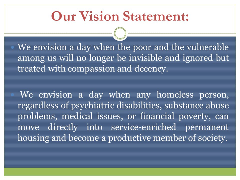 OUR VALUES: We believe in the absolute value and worth of every single human being.