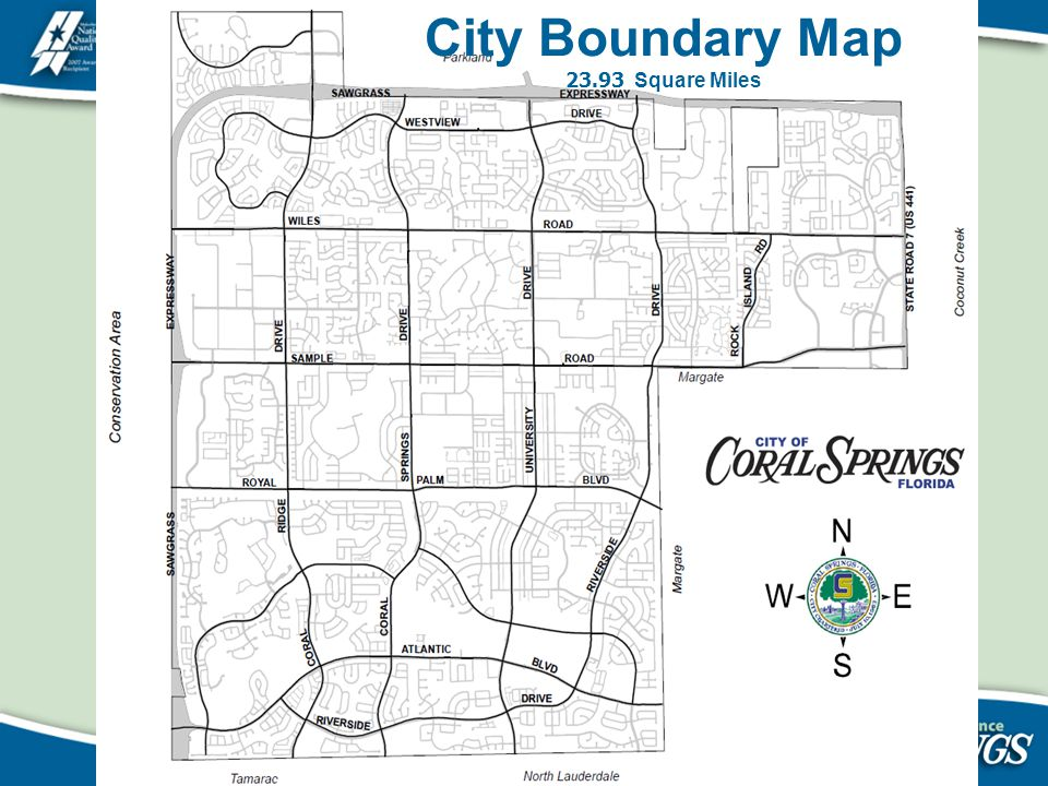 City Boundary Map 23.93 Square Miles