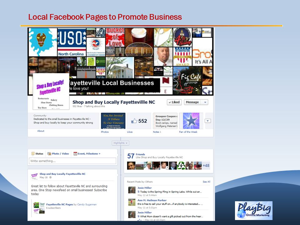 Local Facebook Pages to Promote Business