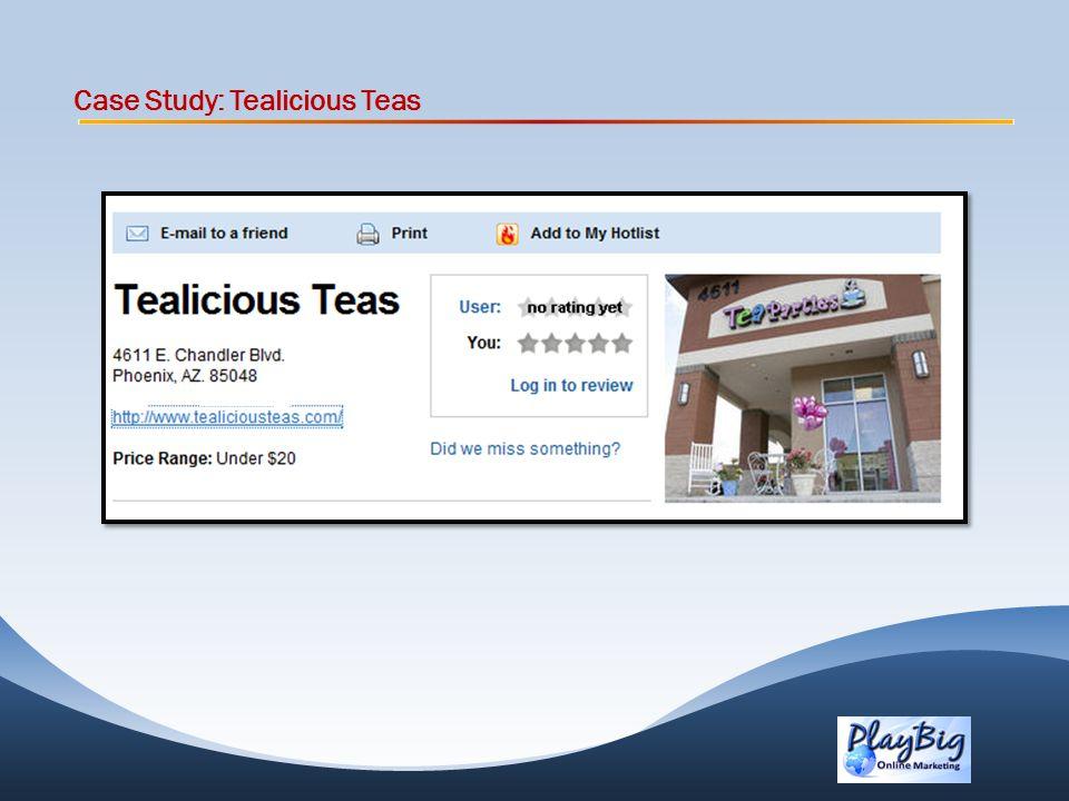 Case Study: Tealicious Teas