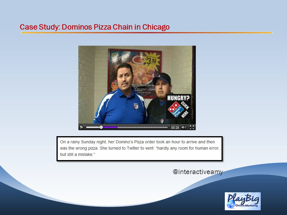 Case Study: Dominos Pizza Chain in Chicago @interactiveamy