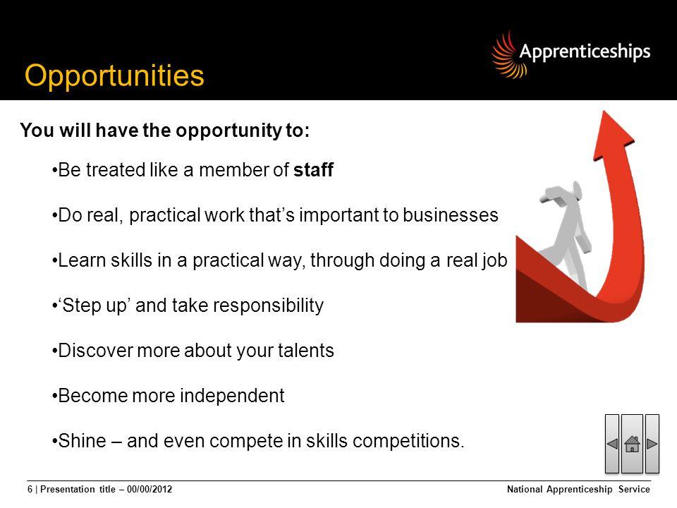 17 | Presentation title – 00/00/2012National Apprenticeship Service Apprenticeship Vacancies