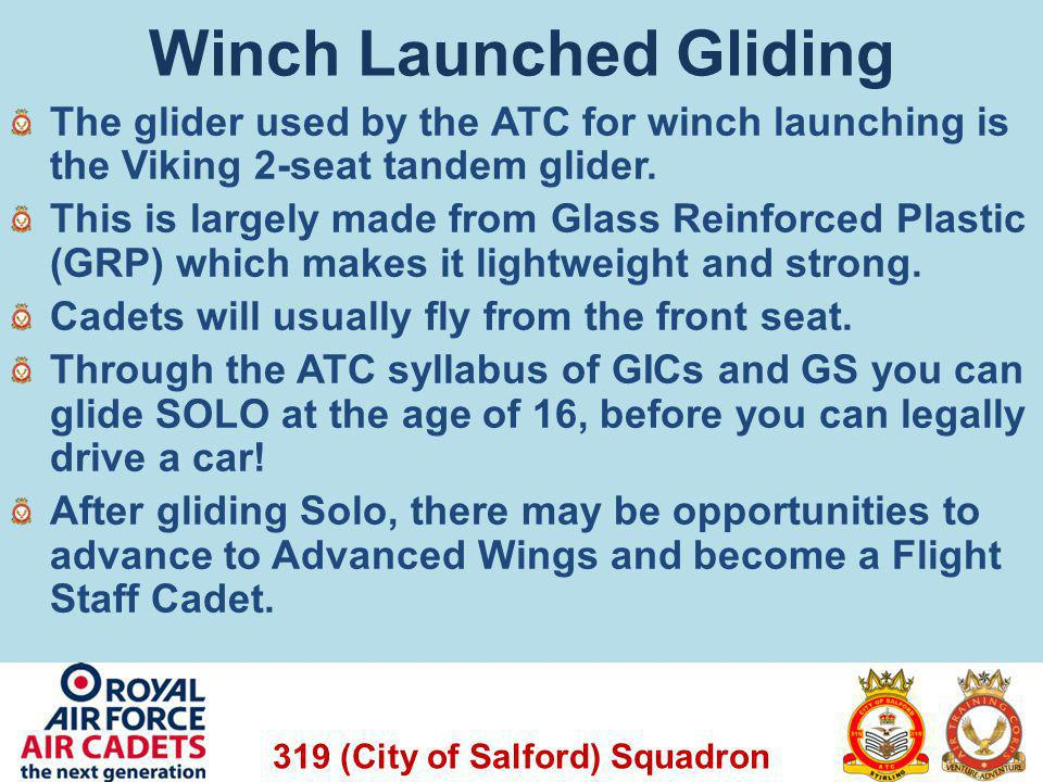 319 (City of Salford) Squadron Questions for You The Vigilant has 100 Litres of fuel.