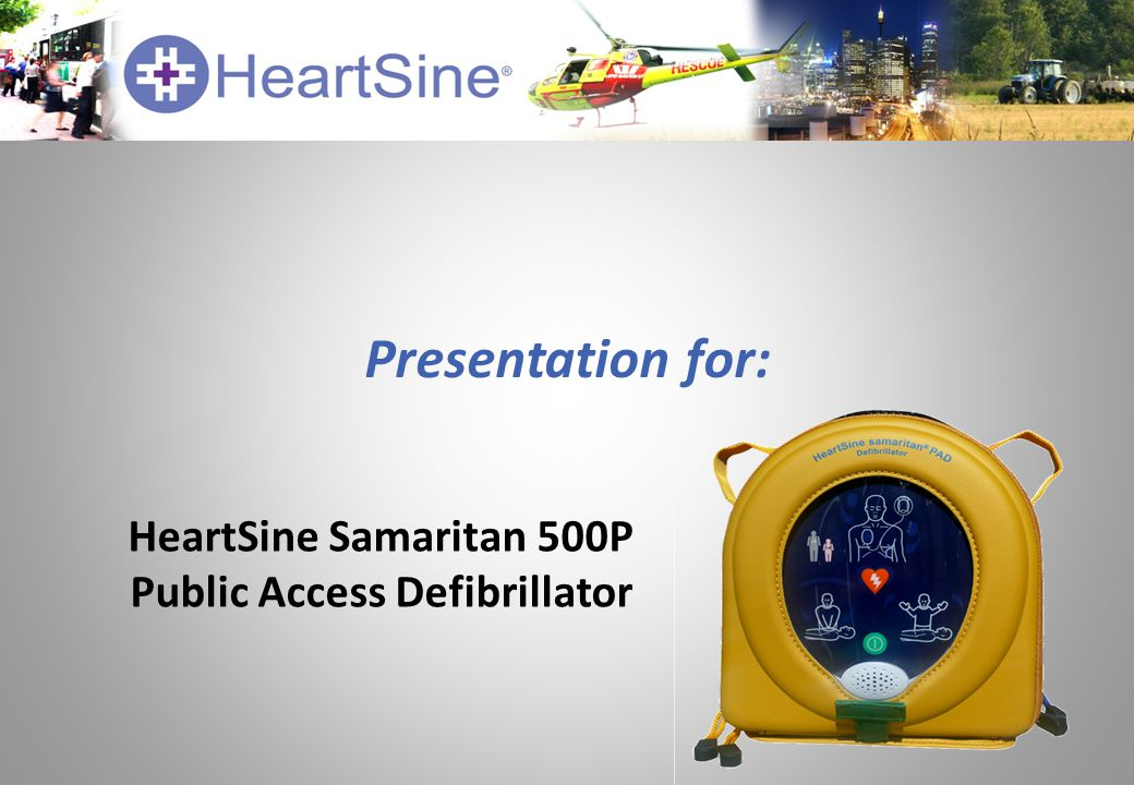 Presentation for: HeartSine Samaritan 500P Public Access Defibrillator
