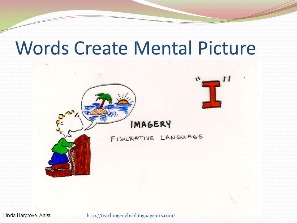 Words Create Mental Picture http://teachingenglishlanguagearts.com/ Linda Hargrove, Artist