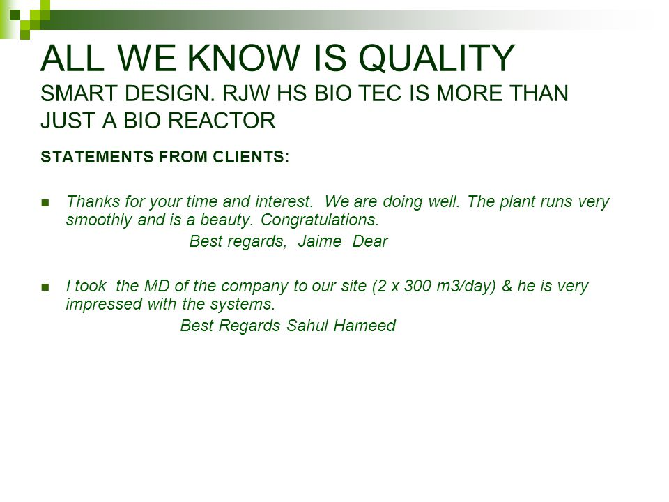 ALL WE KNOW IS QUALITY SMART DESIGN.