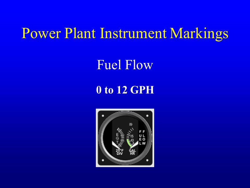 Power Plant Instrument Markings Fuel Flow 0 to 12 GPH