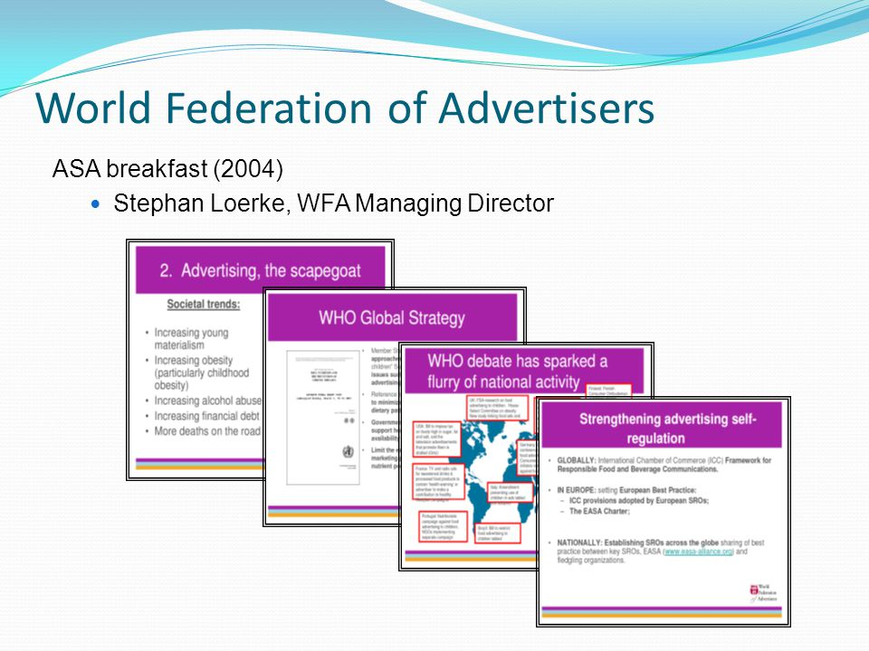 World Federation of Advertisers ASA breakfast (2004) Stephan Loerke, WFA Managing Director
