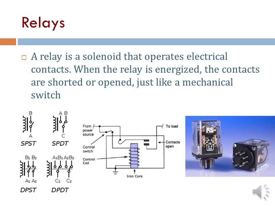 Solenoids A solenoid is an electromagnet that activates a mechanical function Solenoids are used to latch safety covers closed so they cant be opened