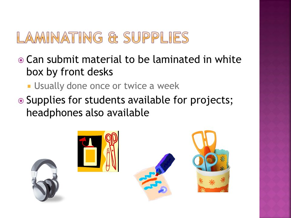 A copy machine is available in the LMC for student use. Please see an LMC staff for assistance.