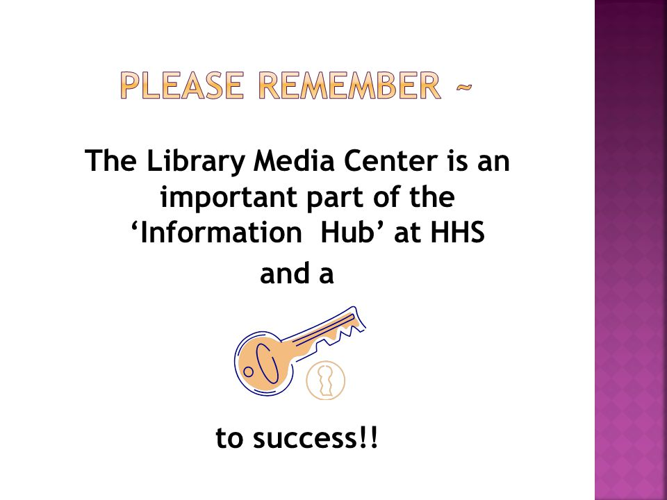 Library Club- assigned to work/help in the LMC during study hall periods Duties include: check materials in and out making copies for students assist