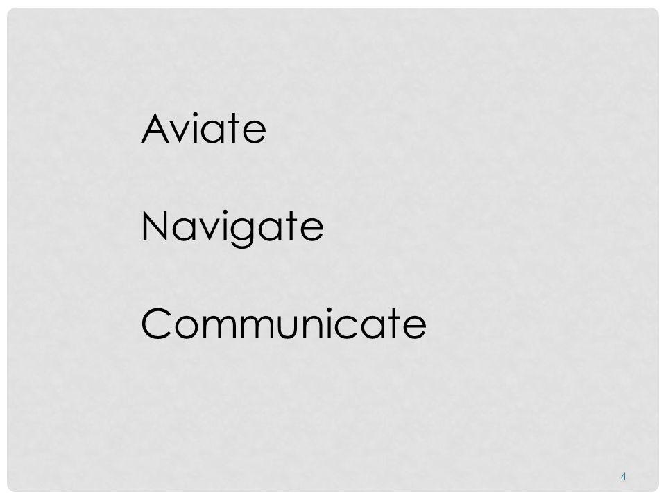 4 Aviate Navigate Communicate