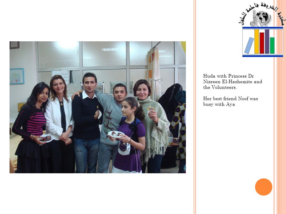 After Huda distributed cakes to her fellow childrens patient, she ate her piece with Mrs Raghad