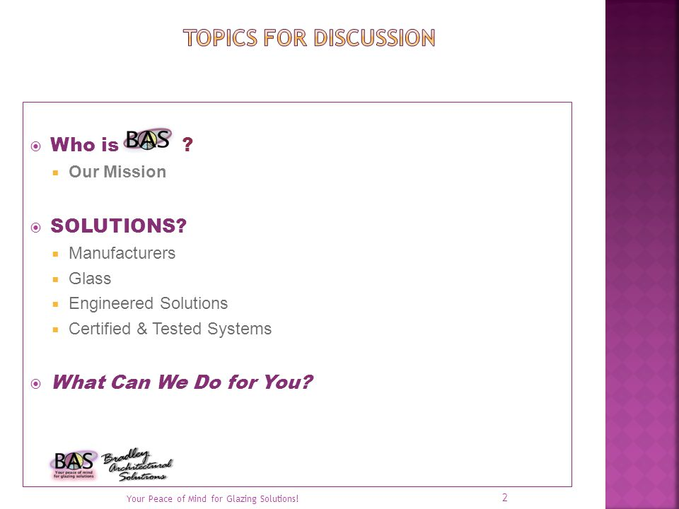 Who is . Our Mission SOLUTIONS.