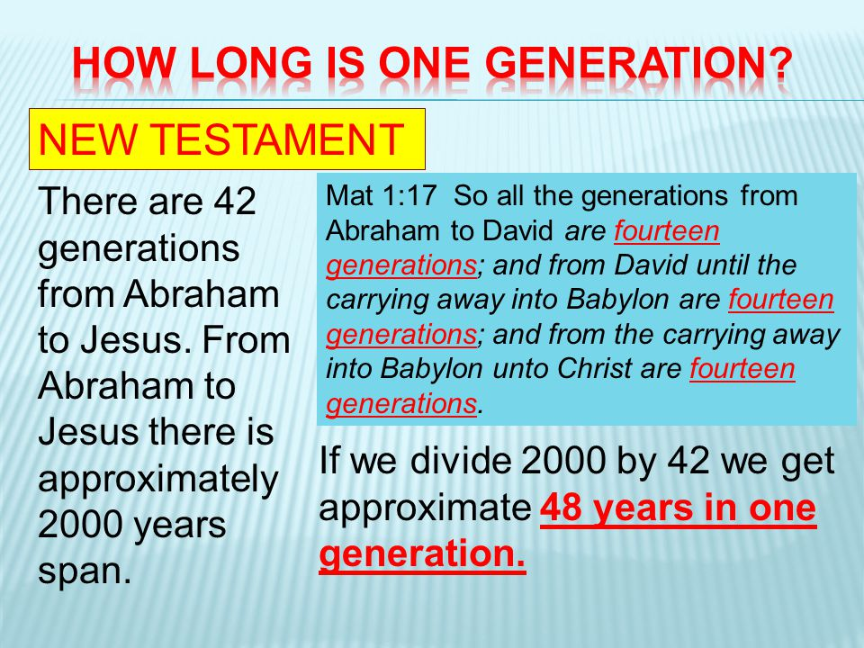In Noahs time it was 120 years. (Gen. 6:3) In Moses time it was 40 years.