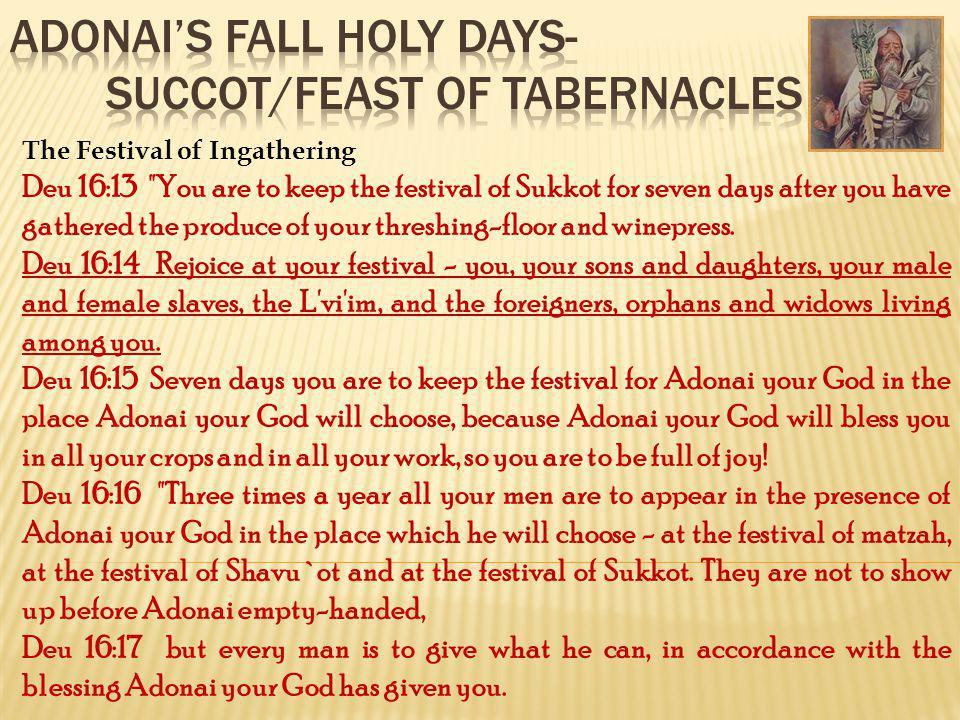 The Festival of Ingathering Deu 16:13