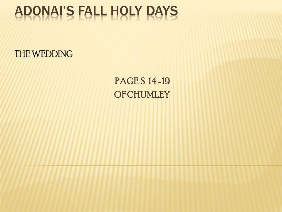 THE WEDDING PAGE S 14 -19 OF CHUMLEY