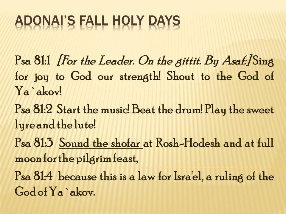 Lev 23:23-25 On the first day of the seventh month there was to be shabbathon, rest, i.e., a day of rest (see Exo_16:23), a memorial of blowing of trumpets, a holy convocation, the suspension of laborious work, and the offering of a firing for Yehovah, which are still more minutely described in the calendar of festal sacrifices in Num_29:2-6.