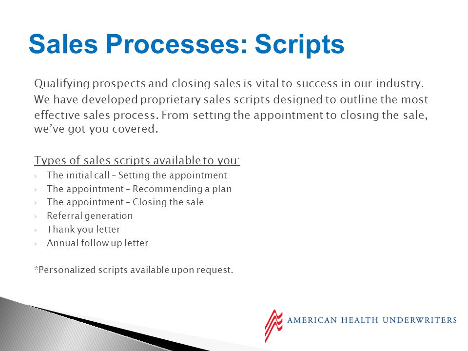 Qualifying prospects and closing sales is vital to success in our industry.