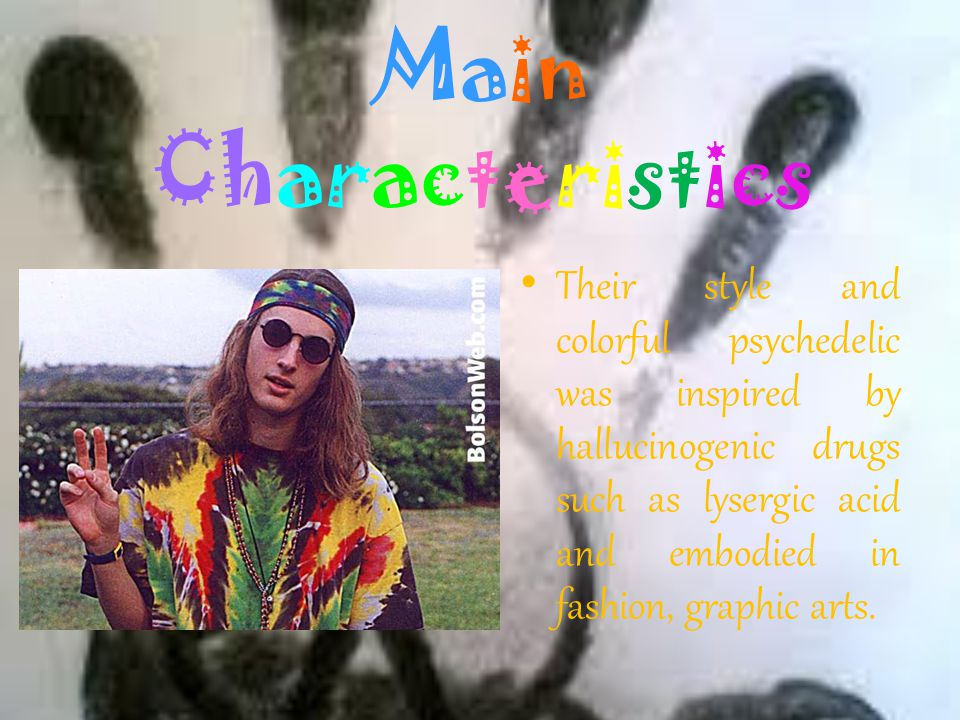 Main Characteristics Free love: supporting practices such as cohabitation, promiscuity, polyamory, homosexuality, bisexuality, interracial relationshi