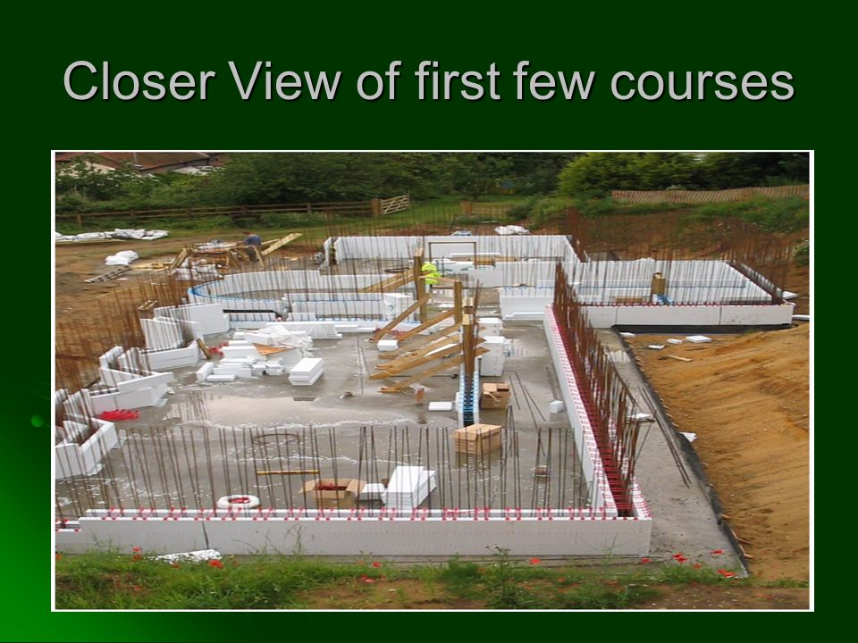 Closer View of first few courses