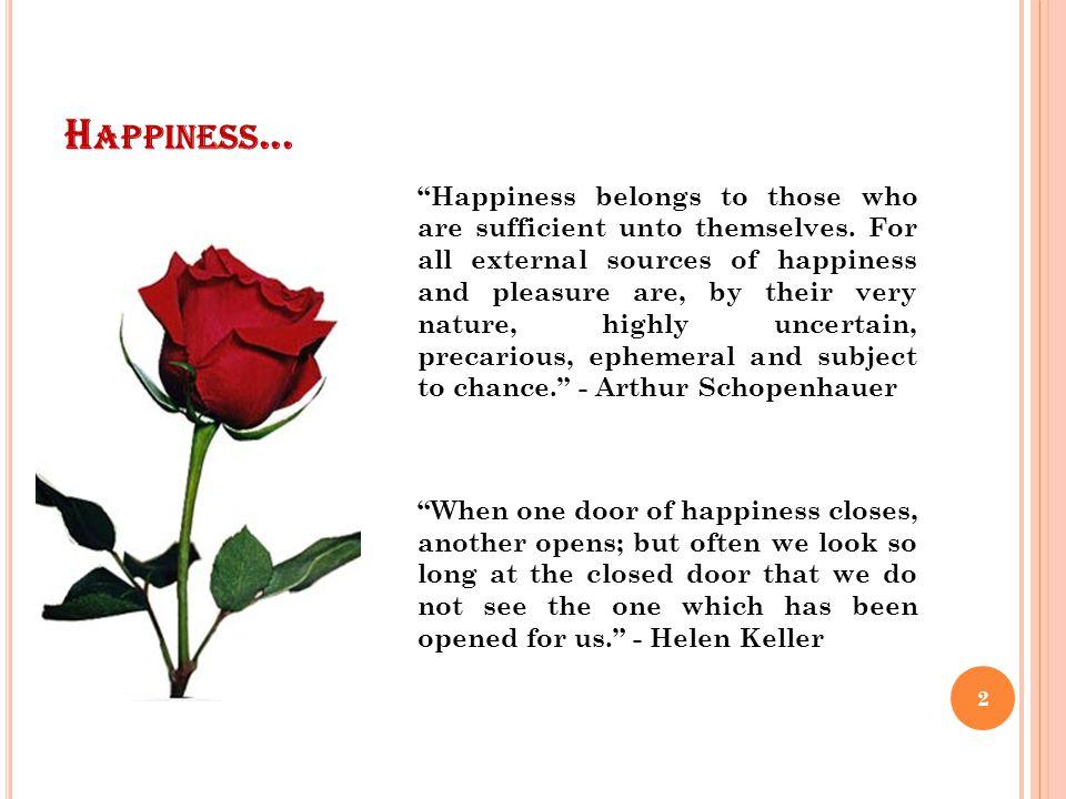HAPPINESS Dr. Leena Leon, Asst. Professor, Department of Home Science, St. Teresas College, Ernakulam. Email: leena@leenaleon.com Copyright © 2011, Le