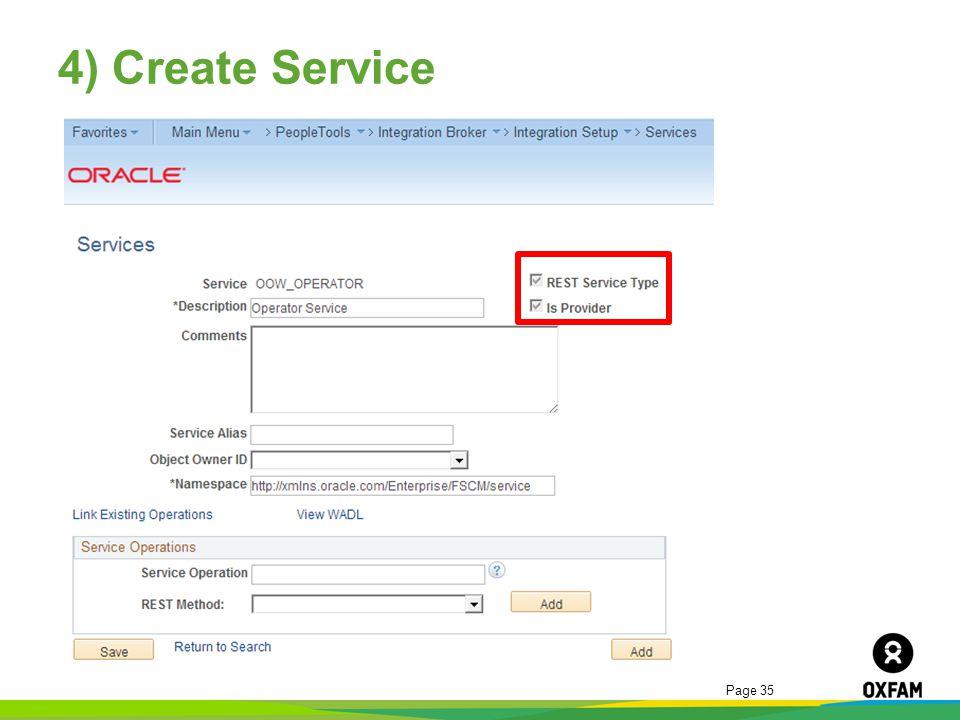 Page 35 4) Create Service