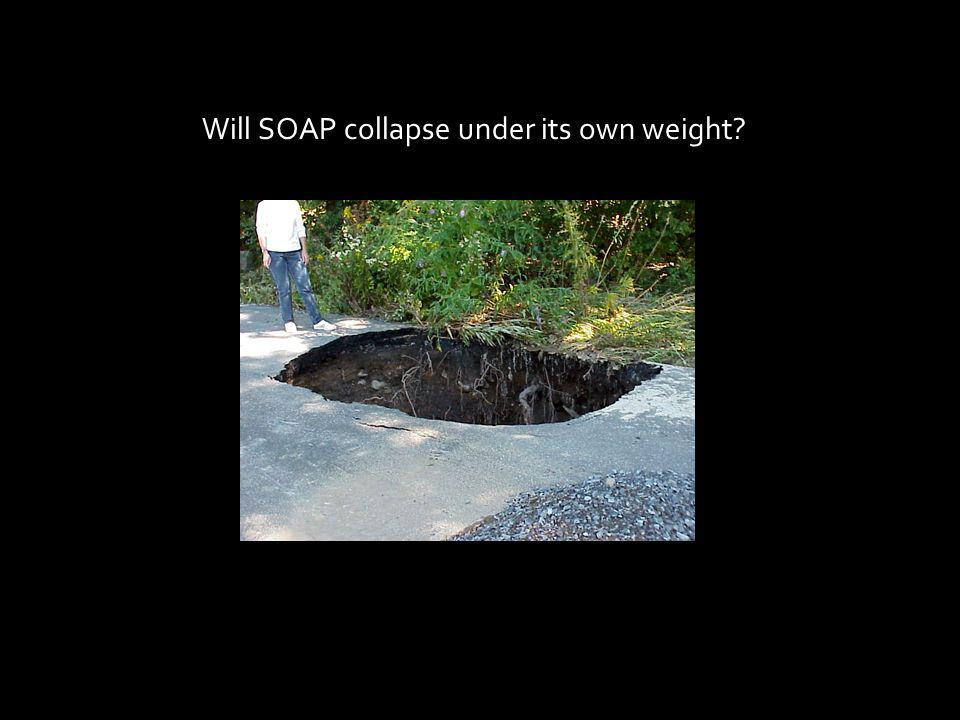 Will SOAP collapse under its own weight?