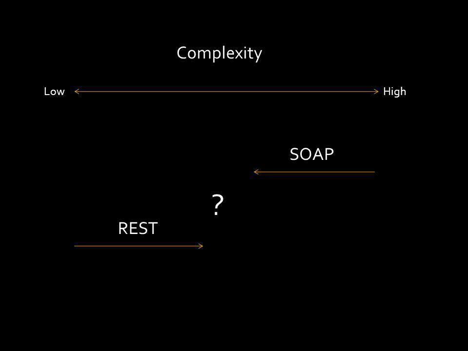 Complexity LowHigh SOAP REST ?