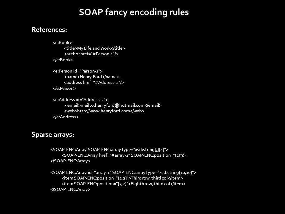 <soap-env:envelope soap-env:encodingStyle= http://schemas.xmlsoap.org/soap/encoding/ xmlns:soap-env= http://schemas.xmlsoap.org/soap/envelope/ xmlns:xsd= http://www.w3.org/1999/XMLSchema xmlns:xsi= http://www.w3.org/1999/XMLSchema-instance >...