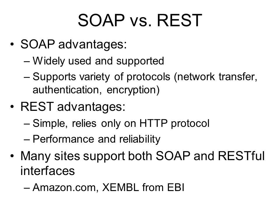 SOAP vs.