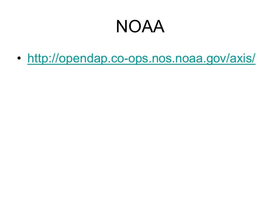 NOAA http://opendap.co-ops.nos.noaa.gov/axis/