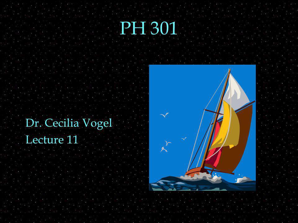 PH 301 Dr. Cecilia Vogel Lecture 11