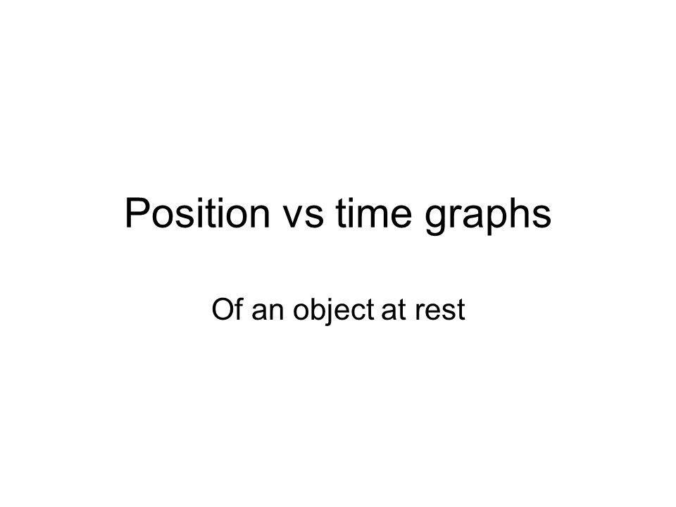 Position vs time graphs Of an object at rest