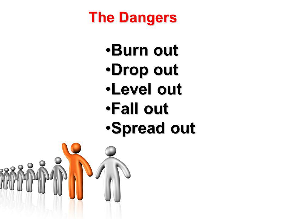 Burn outBurn out Drop outDrop out Level outLevel out Fall outFall out Spread outSpread out The Dangers
