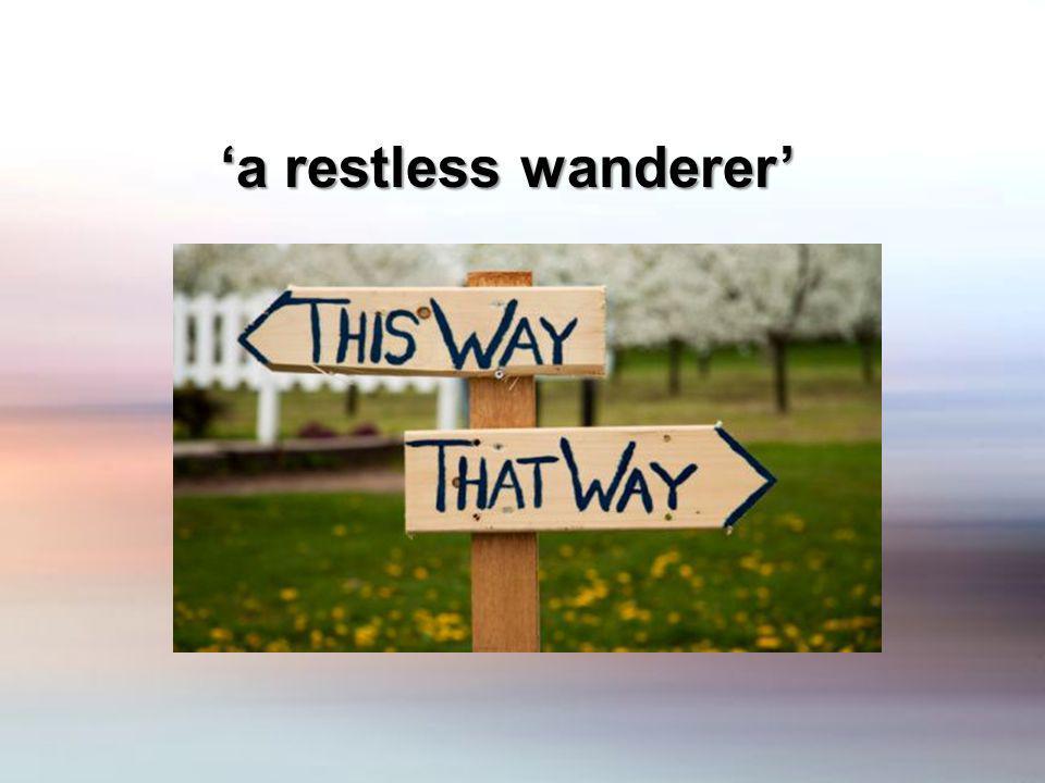 a restless wanderer a restless wanderer
